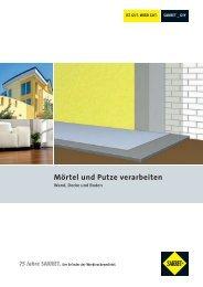 SAKRET Mörtel und Putze verarbeiten - Wand, Decke und Boden