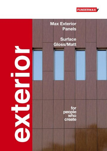 Max Exterior Panels Surface NG(Gloss)/NM(Matt) - Sisteme-fatade.ro