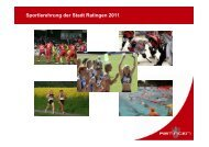 Sportlerehrung der Stadt Ratingen 2011
