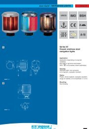 NAVIGATION LIGHTS Series 50 Classic stainless steel ... - Ysebaert