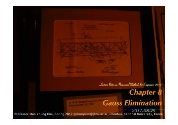Gauss Elimination - Propulsion and Combustion Laboratory