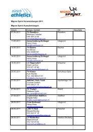 Lokale Ausscheidungen Migros Sprint 2011