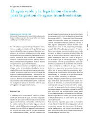 El agua verde y la legislación eficiente para la gestión de ... - IEMed