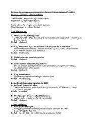 Protokoll fra ordinær generalforsamling i Fagerholt ... - Herborvi.no
