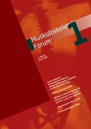 Muskuloskeletalt Forum - 1/2003 (pdf) - Fagforum for ...