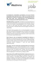 Die Westdeutsche ImmobilienBank AG (WestImmo) und die pbb ...