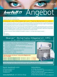 Skanair® Sicherheits-Wägebench HFC - Bartelt