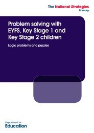 Problem solving with EYFS, Key Stage 1 and Key Stage 2 children ...