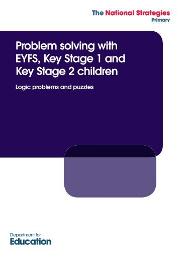 problem solving key stage 2