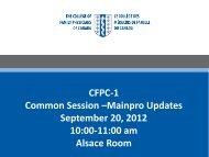 CFPC-1 Common Session –Mainpro Updates ... - Royal College