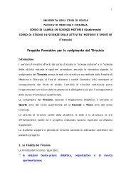 Regolamento Didattico Tirocinio - Medicina e chirurgia
