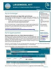 Lægemiddel Nyt 201004 - Sygehusapoteket - Region Nordjylland