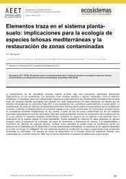 Elementos traza en el sistema planta- suelo - Revista Ecosistemas