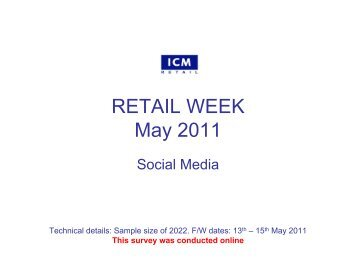 RETAIL WEEK May 2011 - ICM Research