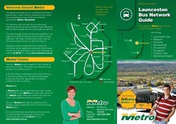 Launceston Bus Network Guide - Metro Tasmania
