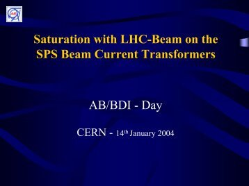 Saturation effects in the SPS DC current transformers (pdf)