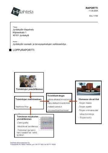 Sosiaali- ja terveyspalvelujen verkkoselvitys, 2009 - Jyväskylän ...