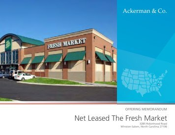 Net Leased The Fresh Market - Ackerman & Co.
