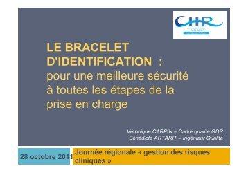 Le bracelet d'identification - ARS Océan Indien