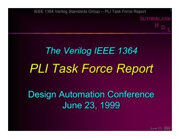presentation slides - Sutherland HDL