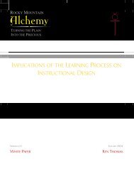 Implications of the Learning Process on Instructional Design - Rocky ...