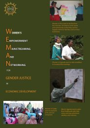 Weman for Gender Justice in Economic Development