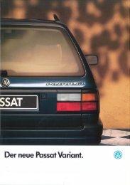 Page 1 Der neue Passat Variant. @E Page 2 Der Passat Variant GL ...