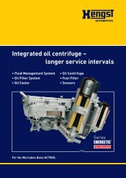 Product information » (2.8 MByte, PDF) - Hengst GmbH & Co. KG