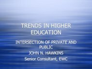 TRENDS IN HIGHER EDUCATION - East-West Center