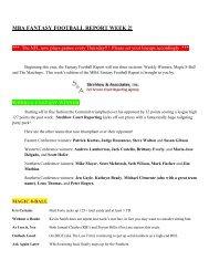 mba fantasy football report week 2 - Montgomery Bar Association