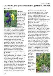 The edible, fruitful and beautiful garden in summer - Bruce Nixon