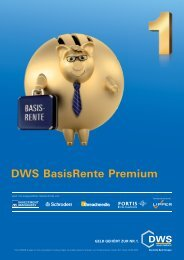 DWS BasisRente Premium - 首页- Great Wall Investments