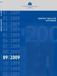 Monthly Bulletin September 2009 - European Central Bank - Europa