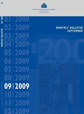 Monthly Bulletin September 2009 - European Central Bank - Europa