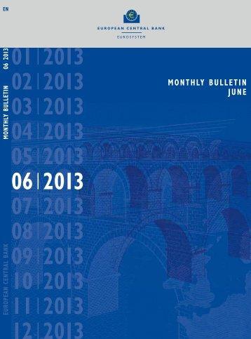 ECB Monthly Bulletin, June 2013 - European Central Bank - Europa