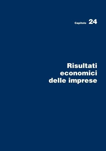 Capitolo 24 Risultati economici delle imprese - Istat.it
