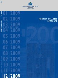 Monthly Bulletin December 2009 - European Central Bank - Europa