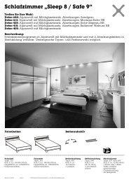 """Schlafzimmer """"Sleep 8 / Safe 9"""""""
