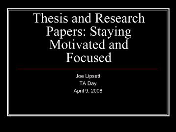 Thesis and Research Papers - Carleton University