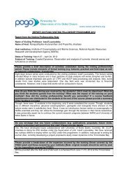 Visiting Professorship Report 2012 - POGO