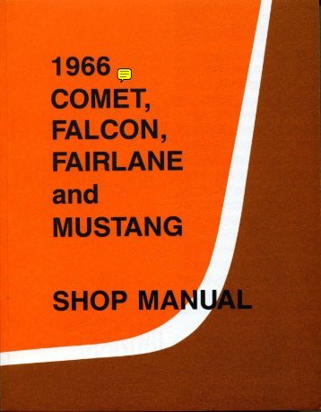 DEMO - 1966 Ford Comet Falcon Fairlane and Mustang Shop Manual