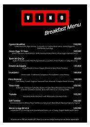 Breakfast Menu - VINO