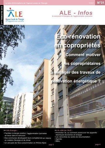 Eco-rénovation en copropriétés - PACT Rhône Alpes