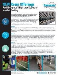 NEW: Added Resins for High Load Grating - Fibergrate Composite ...
