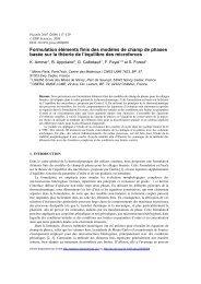 Formulation éléments finis des modèles de ... - MINES ParisTech