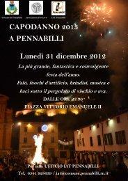CAPODANNO 2013 A PENNABILLI Lunedì 31 dicembre 2012