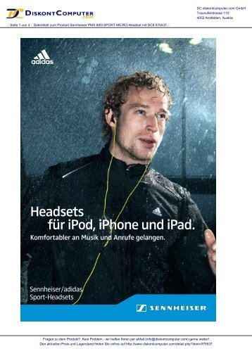 für ipod, iphone und ipad. Headsets - Diskontcomputer