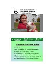 NATURBRUK - Videregående skoler