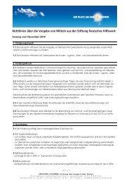 Richtlinien über die Vergabe von Mitteln aus der Stiftung Deutsches ...