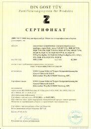 Zertifikat - GMW